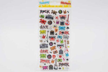 """70 x Stickers Tweeny 3D """"Musik & Rock"""""""