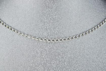 Gliederkette silber, 3 x 2 mm, Länge 50 cm
