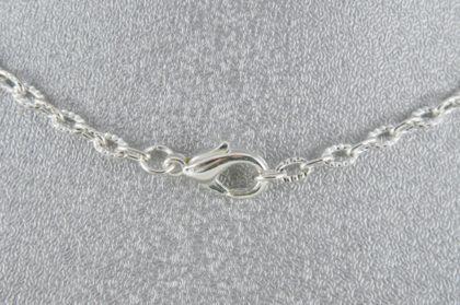 Halskette silber mit Verschluss - Länge 49 cm