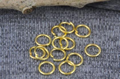 10 Stück Biegeringe goldfarben, 7 mm