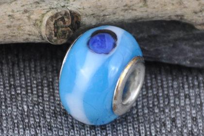Lampwork Beads, 14mm, blau