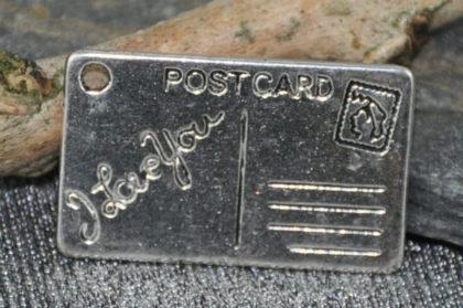Tibet Silber Anhänger, Postcard, 25 x 15mm