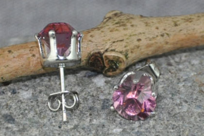 Kristall Ohrstecker rosa
