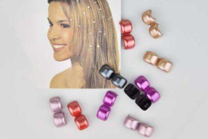 10 x Haar-Klips in verschiedenen Farben