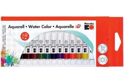 Marabu Aquarellfarben, 12 x 12ml