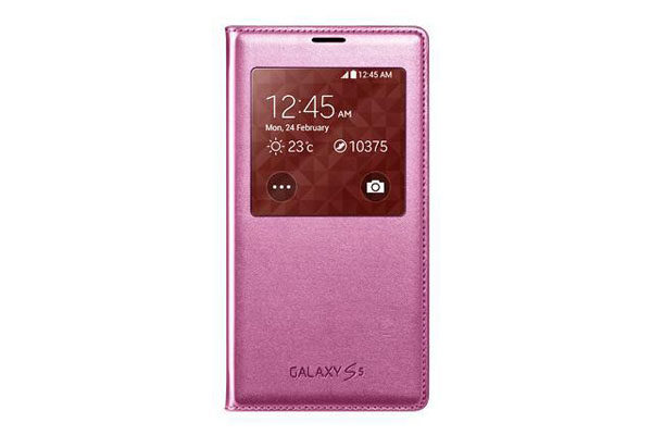 Samsung GALAXY S5 S View Cover, pink