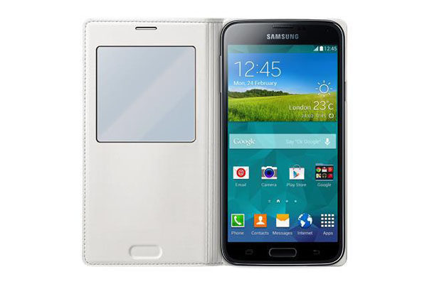 Samsung GALAXY S5 S View Cover, weiss