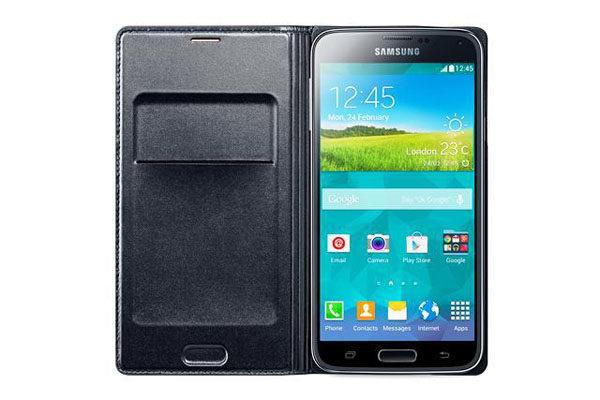 Samsung GALAXY S5 Flip Wallet, schwarz