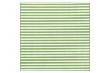 Serviette 2-lagig 33x33 cm, grün-weiss gestreift