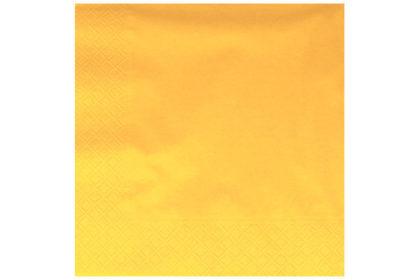 Serviette 3-lagig 33 x 33 cm, gelb