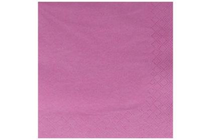 Serviette 3-lagig 33 x 33 cm, pink