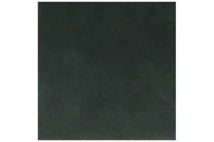 Serviette 3-lagig 33 x 33 cm, schwarz