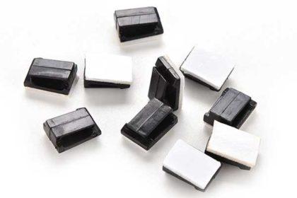 10 x Kabel-Halterungen für Fahrzeuge, 12 x 5mm, schwarz