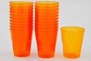 24 Stück Plastikbecher 53x46x46mm, orange