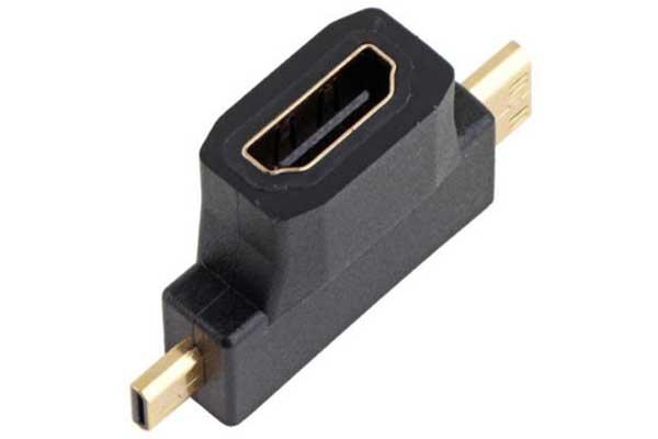 3 in 1 hdmi buchse zu mini hdmi stecker und micro hdmi stecker schwarz elektronik haushalt. Black Bedroom Furniture Sets. Home Design Ideas
