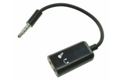 3.5mm-Klinkenstecker zu Audio/Micro-Buchse, schwarz