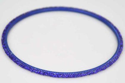 Armreifen dunkelblau mit Glitzer, 72mm