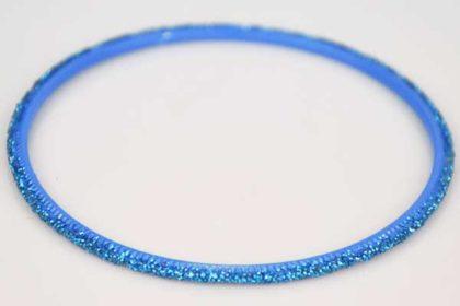 Armreifen hellblau mit Glitzer, 72mm