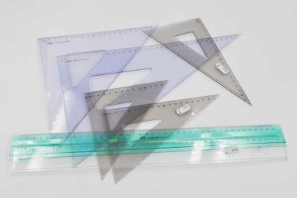 7 Stück Lineale & Geo-Dreiecke