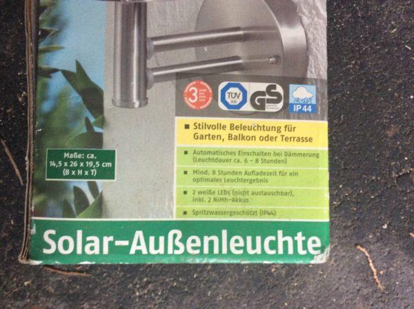 Florabest Solar-Aussenleuchte, neu