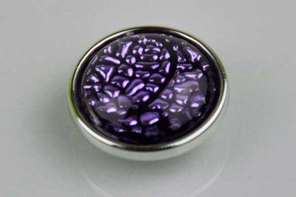 Chunk Button 18mm für Armbänder und Ketten, mit violettem Muster