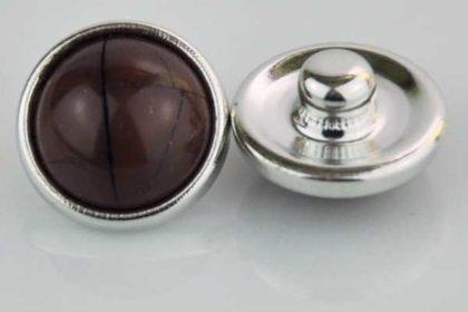 Chunk Button 12mm für Armbänder und Ketten, braun