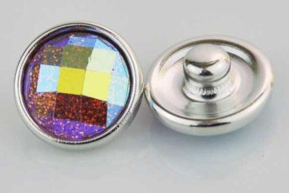 Chunk Button 12mm für Armbänder und Ketten, Glitzerstein