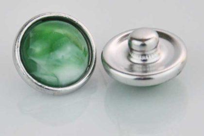 Chunk Button 12mm für Armbänder und Ketten, grün marmoriert
