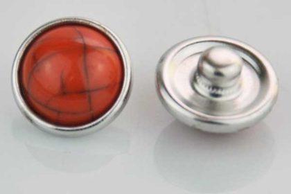 Chunk Button 12mm für Armbänder und Ketten, orange