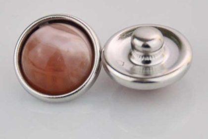 Chunk Button 12mm für Armbänder und Ketten, orange marmoriert