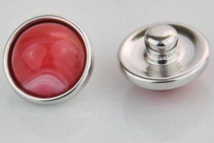 Chunk Button 12mm für Armbänder und Ketten, rot marmoriert