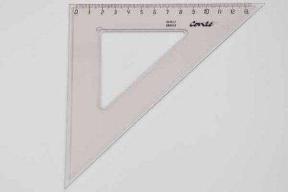 Conte Geo-Dreieck 13cm, braun-transparent
