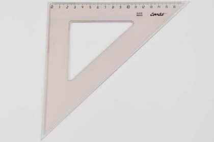 Conte Geo-Dreieck 16cm, braun-transparent