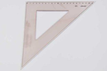 Conte Geo-Dreieck 21cm, braun-transparent