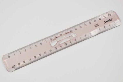 Conte Lineal 20cm mit Halterung, braun-transparent
