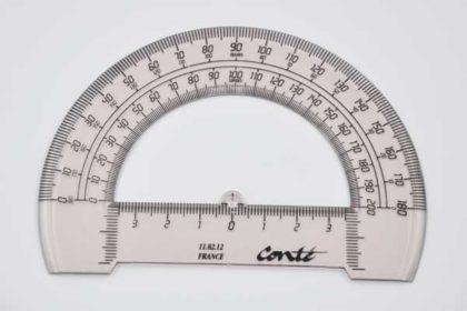 Conte Winkelmesser 13cm, braun-transparent