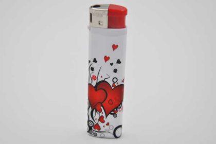 Feuerzeug wieder befüllbar Motiv Herzen