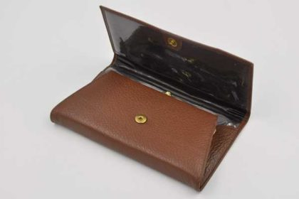 Echtleder Geldbörse für Damen, dunkelbraun