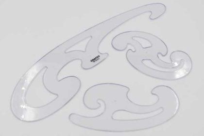 FARA Grafos 3 Stück FUME, Lineal, transparent