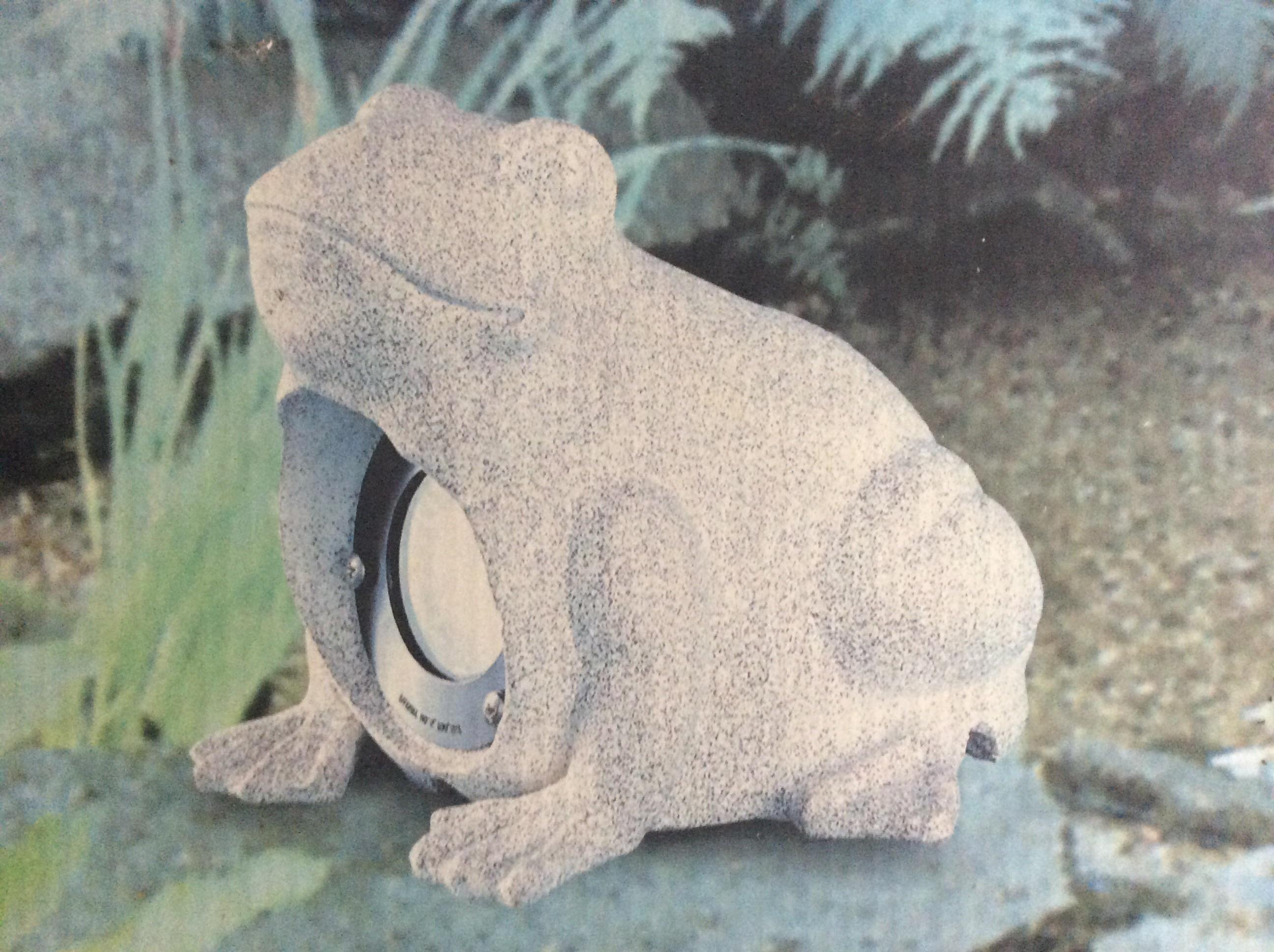 garten frosch mit beleuchtung elektronik haushalt. Black Bedroom Furniture Sets. Home Design Ideas