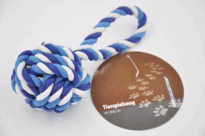 JES COLLECTION Hunde-Spielzeug zum Werfen, 7-19cm, blau-weiss