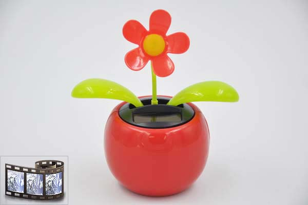 Jes collection wackelfigur mit solarfunktion blumentopf for Blumentopf rot