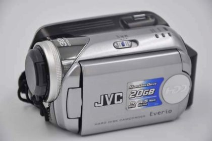 JVC Hard-Disk-Camcorder Everio 20GB, GZ-MG21E, silber