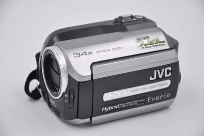 JVC Hard-Disk-Camcorder Everio 30GB, GZ-MG130E, silber