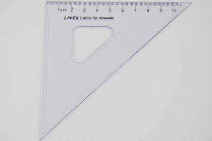 LINEX D4516 Geo-Dreieck, 10cm, transparent