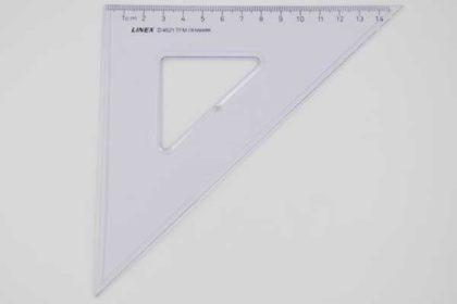 LINEX D4521 Geo-Dreieck, 14cm, transparent