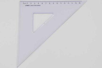 LINEX D4525 Geo-Dreieck, 16cm, transparent