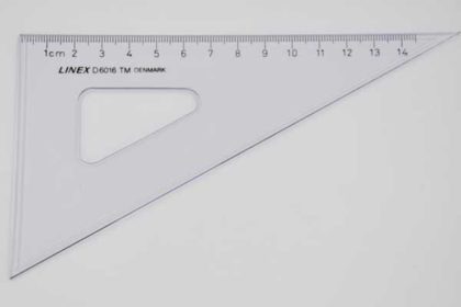 LINEX D6016 Geo-Dreieck, 14cm, transparent