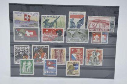 Schweizer Briefmarken - Militär Set 2