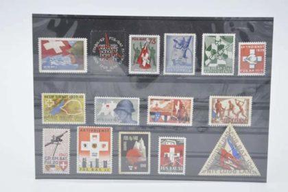 Schweizer Briefmarken - Militär Set 3